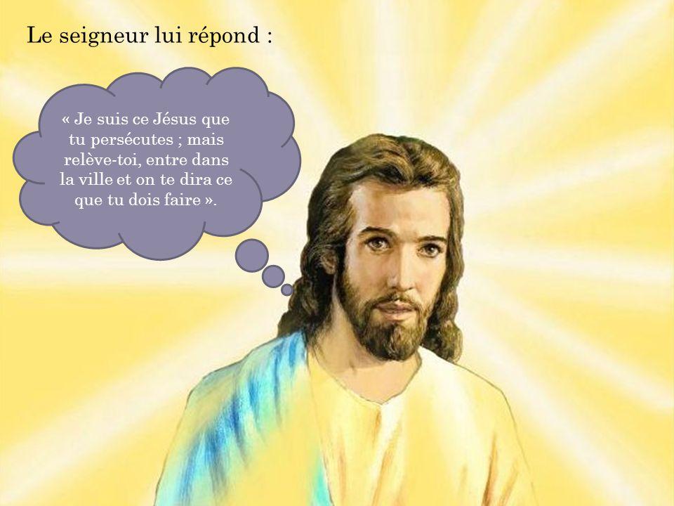 « Je suis ce Jésus que tu persécutes ; mais relève-toi, entre dans la ville et on te dira ce que tu dois faire ».