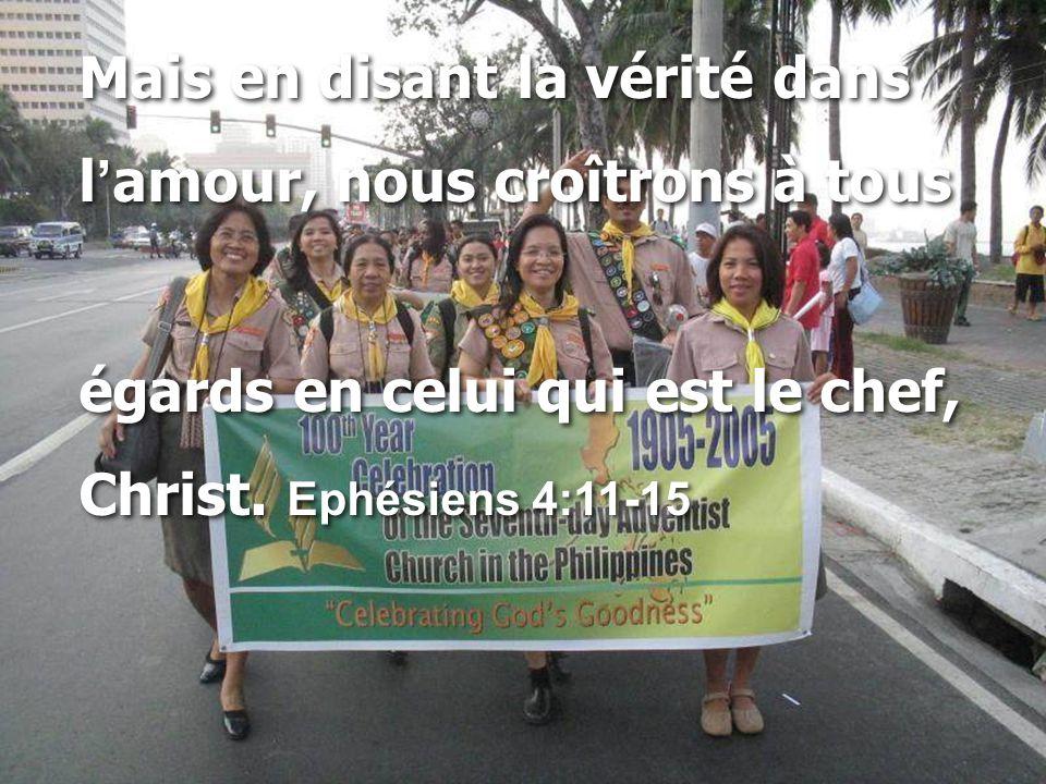 Mais en disant la vérité dans l ' amour, nous croîtrons à tous égards en celui qui est le chef, Christ. Ephésiens 4:11-15 Mais en disant la vérité dan