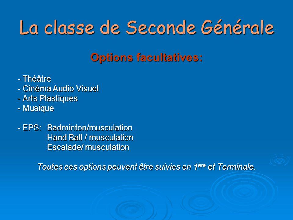 La classe de Seconde Générale Les Enseignements d'Exploration (EDE) offerts au lycée Lumière offerts au lycée Lumière SES ou PFEG (1h30) + Sciences de