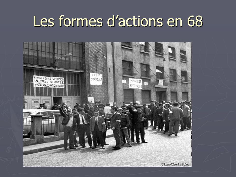 Les formes d'actions en 68