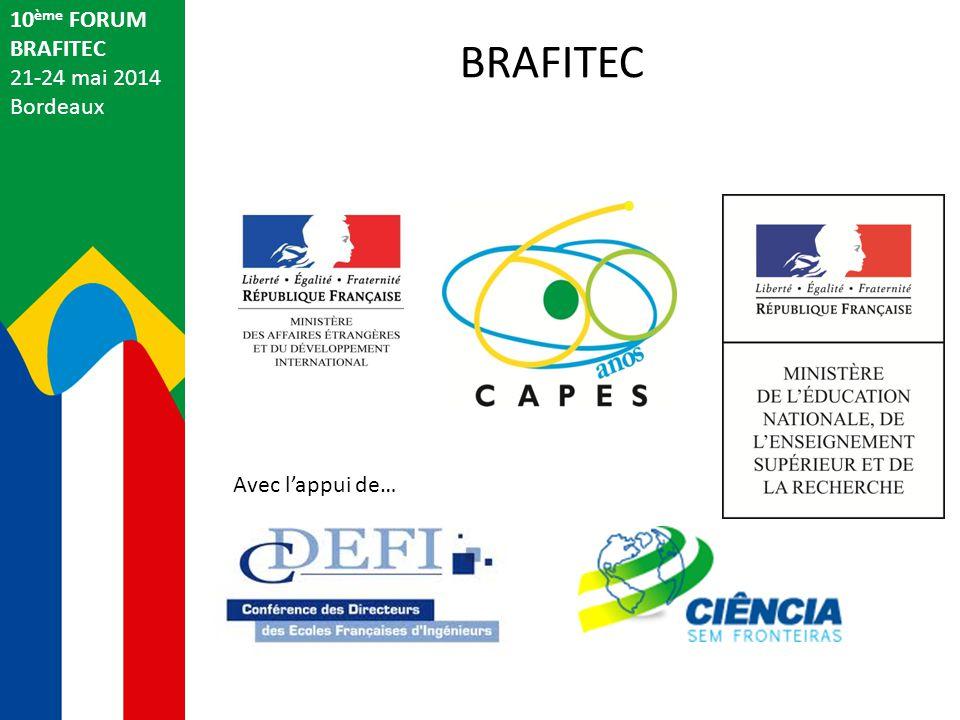10 ème FORUM BRAFITEC 21-24 mai 2014 Bordeaux Samedi 24 mai 2014 BRAFITEC 2014 9h00: Rendez-vous à l'Office de Tourisme de Bordeaux pour les personnes inscrites.
