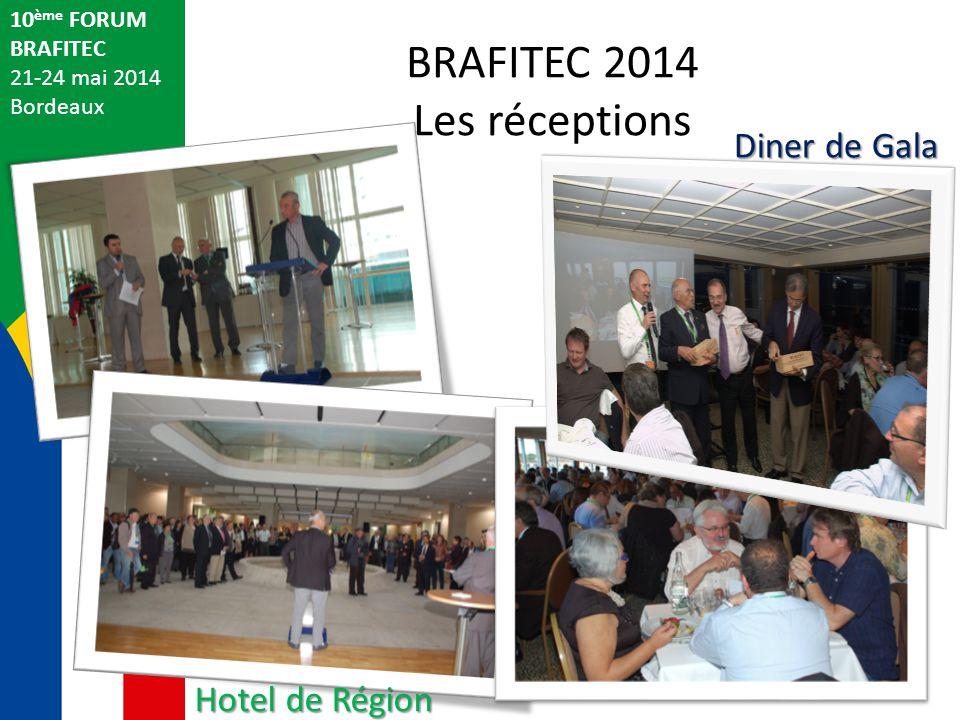 BRAFITEC 2014 Les réceptions 10 ème FORUM BRAFITEC 21-24 mai 2014 Bordeaux Hotel de Région Diner de Gala