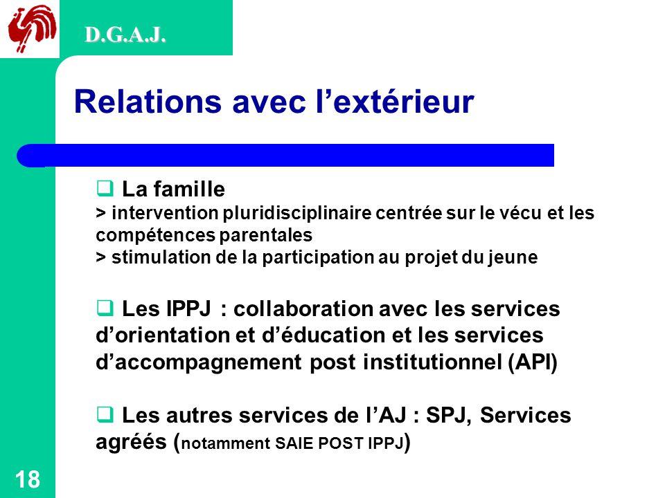 18 Relations avec l'extérieur D.G.A.J.