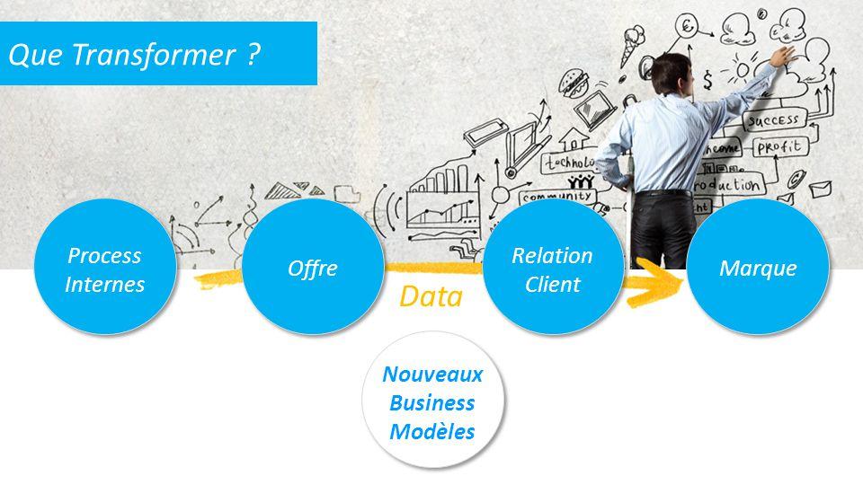 Data Que Transformer ? Process Internes Offre Relation Client Marque Nouveaux Business Modèles