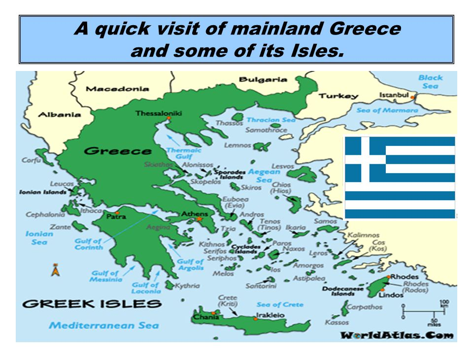 A quick visit of mainland Greece and some of its Isles.