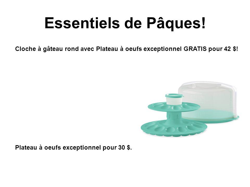 Essentiels de Pâques! Cloche à gâteau rond avec Plateau à oeufs exceptionnel GRATIS pour 42 $! Plateau à oeufs exceptionnel pour 30 $.
