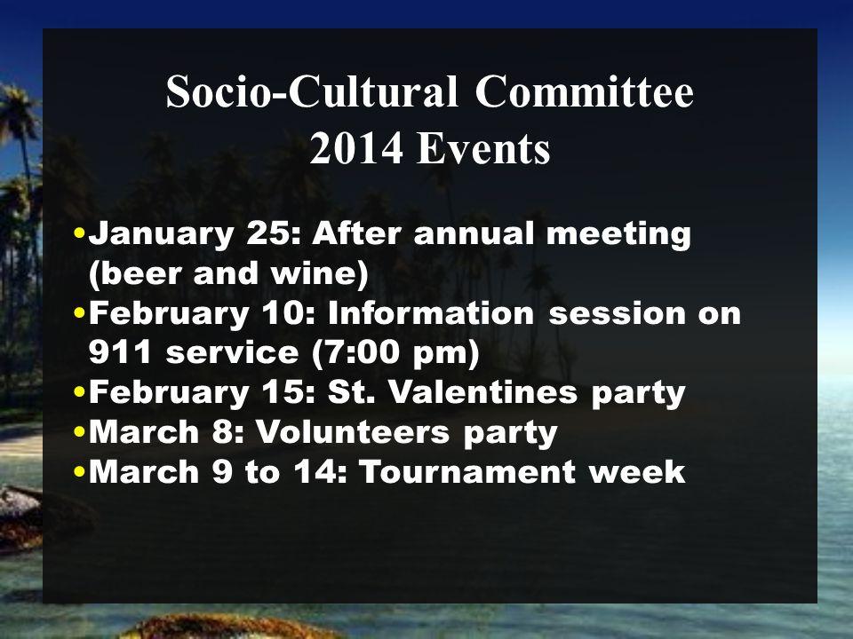Socio-Cultural Committee March 14: Party retro.