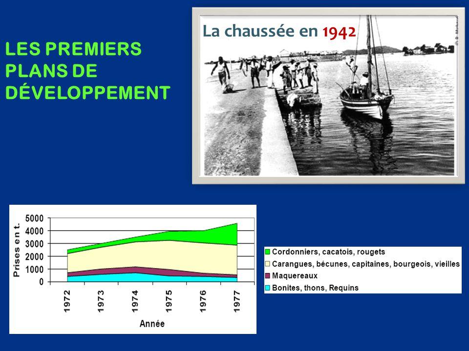  une vision correcte de la pêche artisanale  une importante sous-estimation du potentiel thonier (15 000 t en 1985)  aucune mention de thoniers senneurs Etude prospective anglaise, 1975