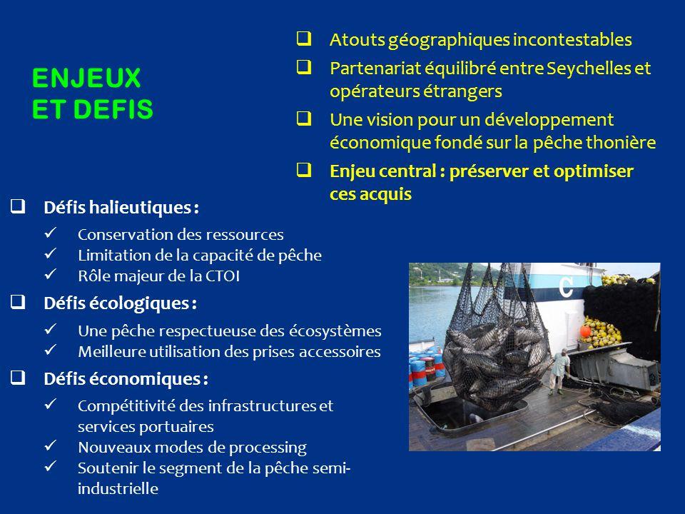ENJEUX ET DEFIS  Atouts géographiques incontestables  Partenariat équilibré entre Seychelles et opérateurs étrangers  Une vision pour un développem