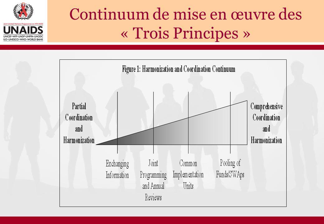 Continuum de mise en œuvre des « Trois Principes »