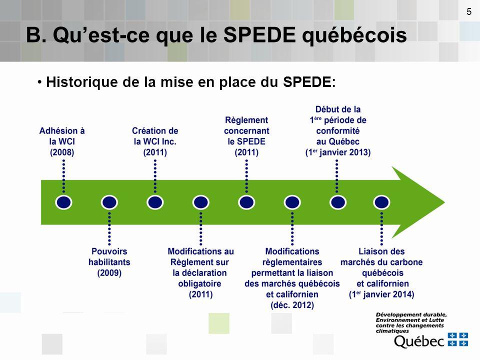 5 Historique de la mise en place du SPEDE: B. Qu'est-ce que le SPEDE québécois
