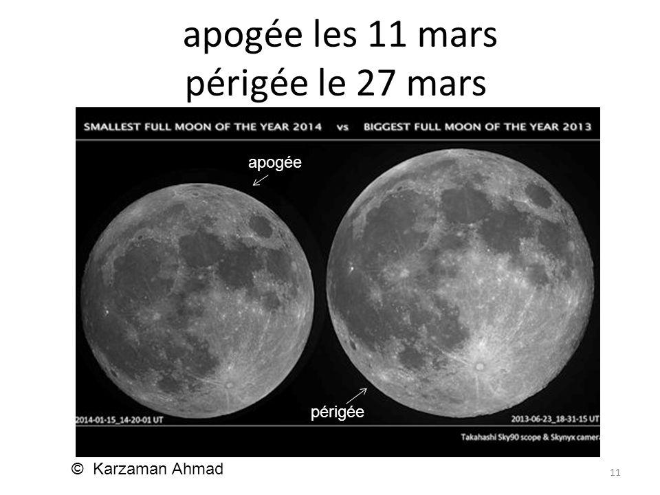 apogée les 11 mars périgée le 27 mars 11 © Karzaman Ahmad apogée périgée apogée périgée
