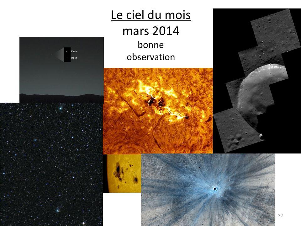 Le ciel du mois mars 2014 bonne observation 37
