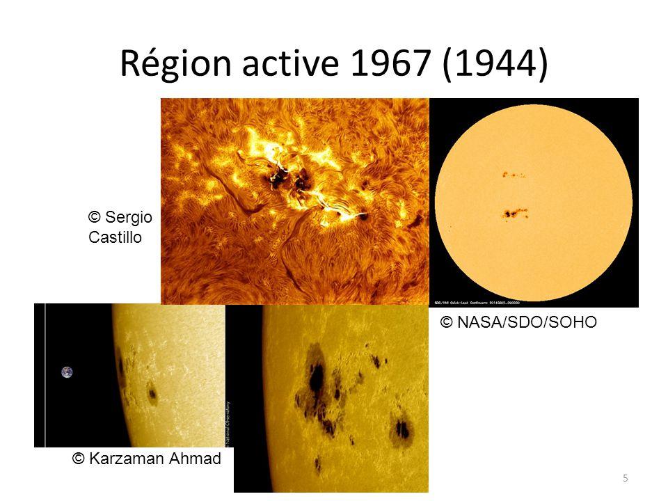 Région active 1967 (1944) 5 © NASA/SDO/SOHO © Karzaman Ahmad © Sergio Castillo