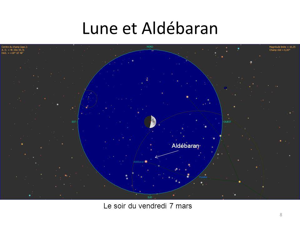 Lune et Aldébaran 8 Aldébaran Le soir du vendredi 7 mars