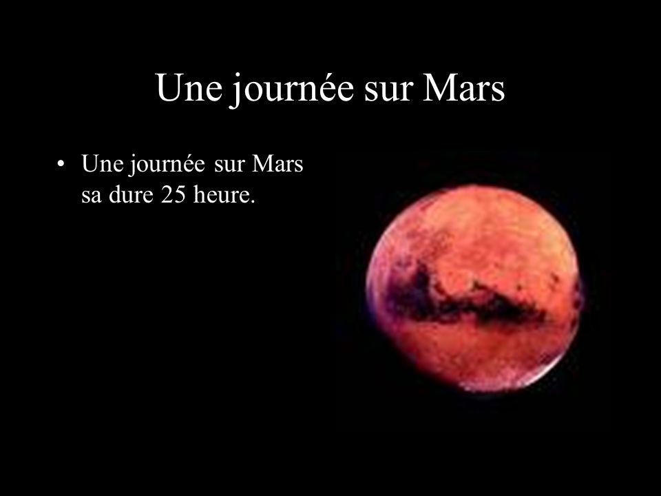 Une journée sur Mars Une journée sur Mars sa dure 25 heure.