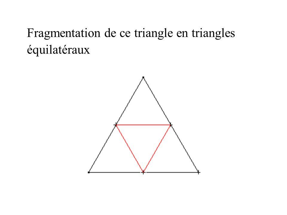 Fragmentation de ce triangle en triangles équilatéraux