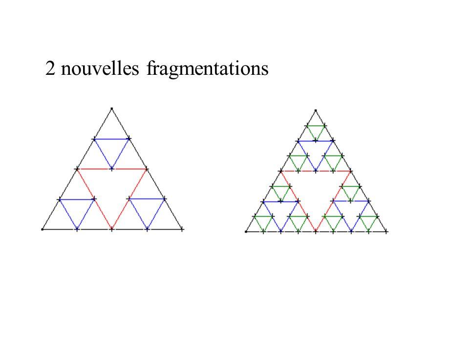2 nouvelles fragmentations