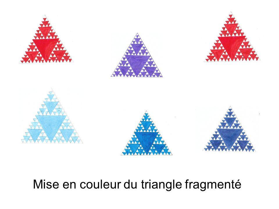 Mise en couleur du triangle fragmenté