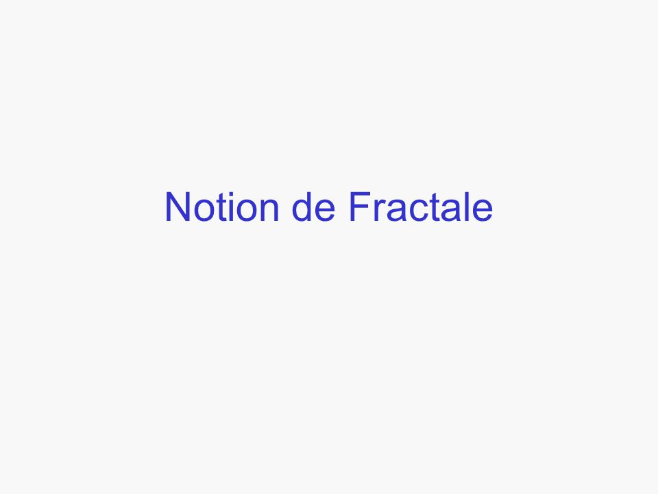 Notion de Fractale