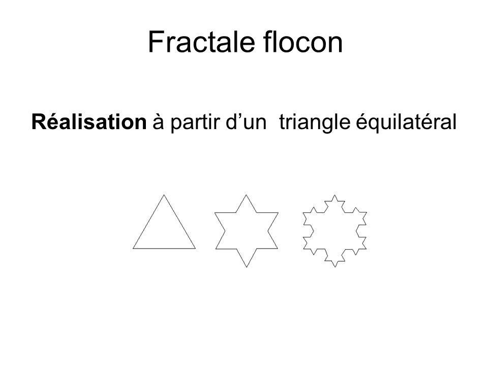 Fractale flocon Réalisation à partir d'un triangle équilatéral