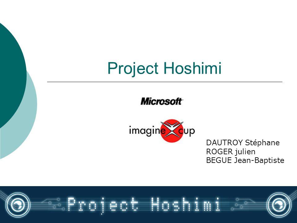 Project Hoshimi DAUTROY Stéphane ROGER julien BEGUE Jean-Baptiste