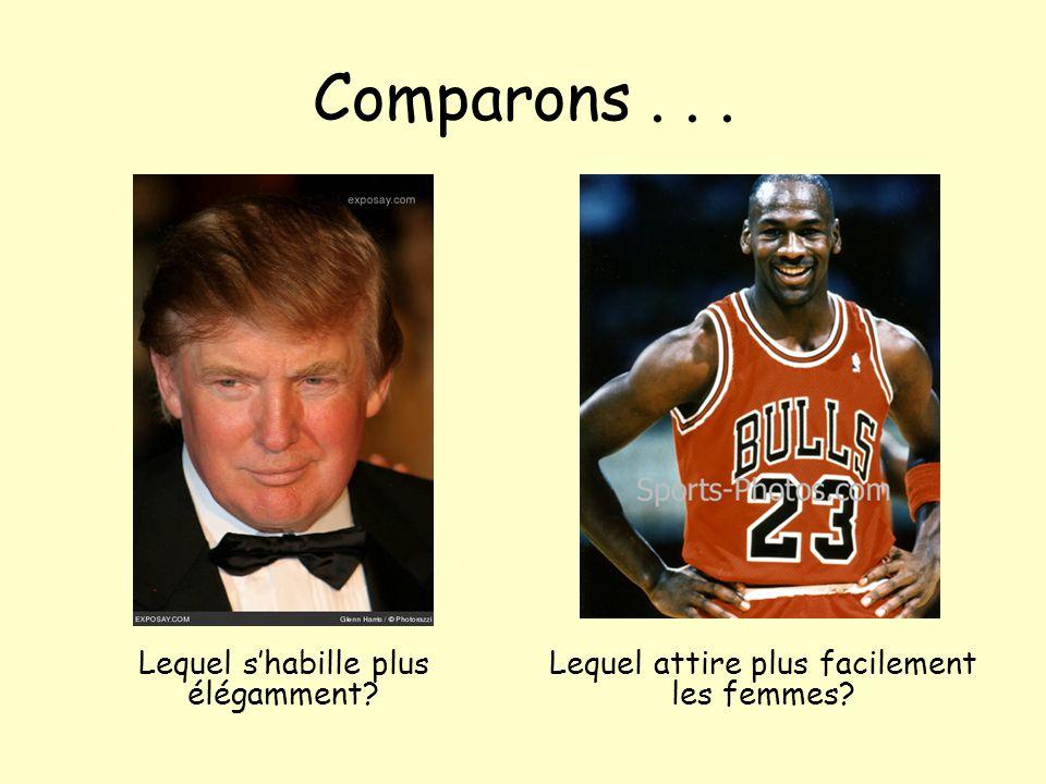 Comparons... Lequel s'habille plus élégamment? Lequel attire plus facilement les femmes?