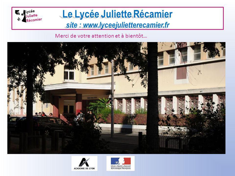 Le Lycée Juliette Récamier site : www.lyceejulietterecamier.fr Journée « portes ouvertes » pour le secondaire : samedi 3 mars 2012 – 9 h /12 h Merci d