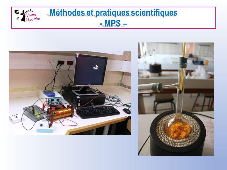 Méthodes et pratiques scientifiques - MPS –