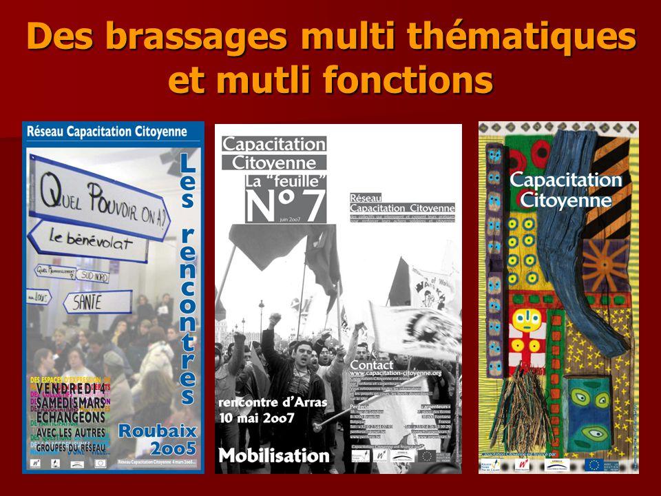 Des brassages multi thématiques et mutli fonctions