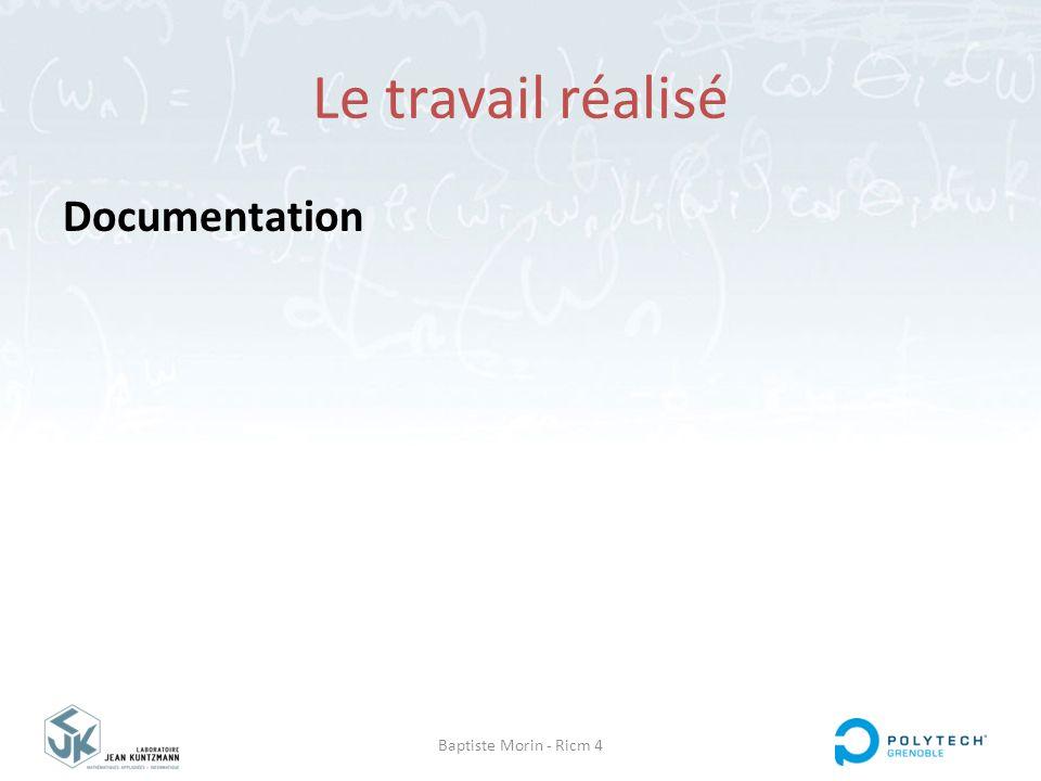 Baptiste Morin - Ricm 4 Le travail réalisé Documentation
