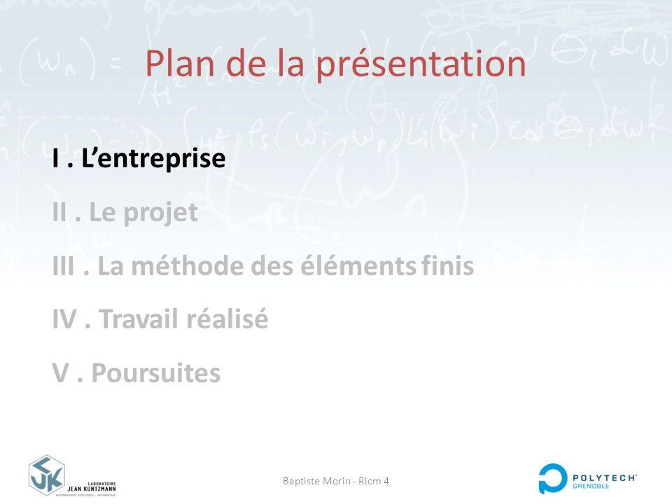 Baptiste Morin - Ricm 4 I.L'entreprise II. Le projet III.