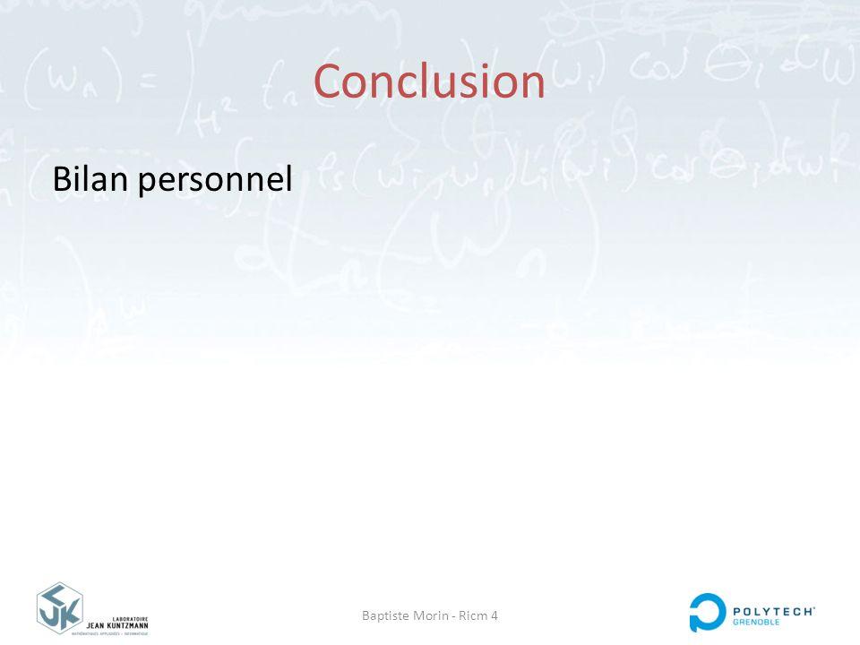Baptiste Morin - Ricm 4 Conclusion Bilan personnel