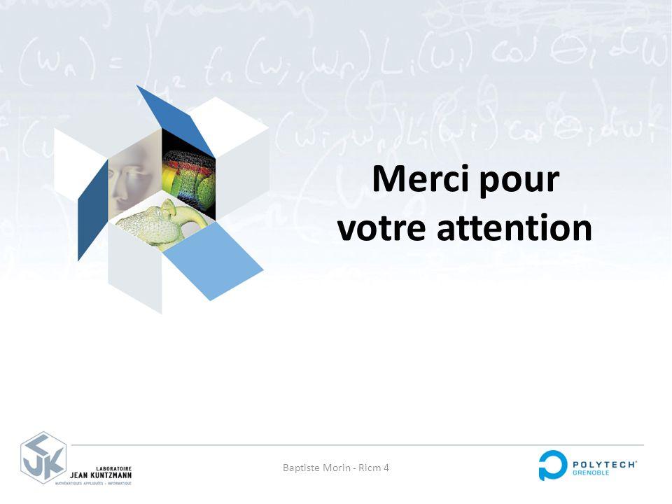 Merci pour votre attention Baptiste Morin - Ricm 4