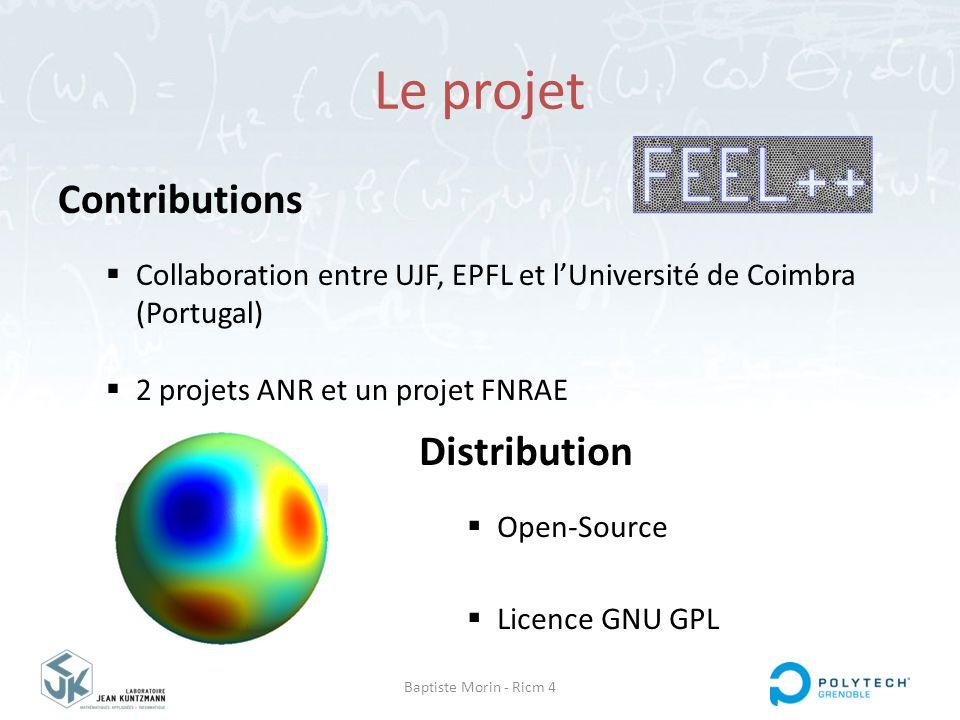 Baptiste Morin - Ricm 4 Le projet Contributions  Collaboration entre UJF, EPFL et l'Université de Coimbra (Portugal)  2 projets ANR et un projet FNR