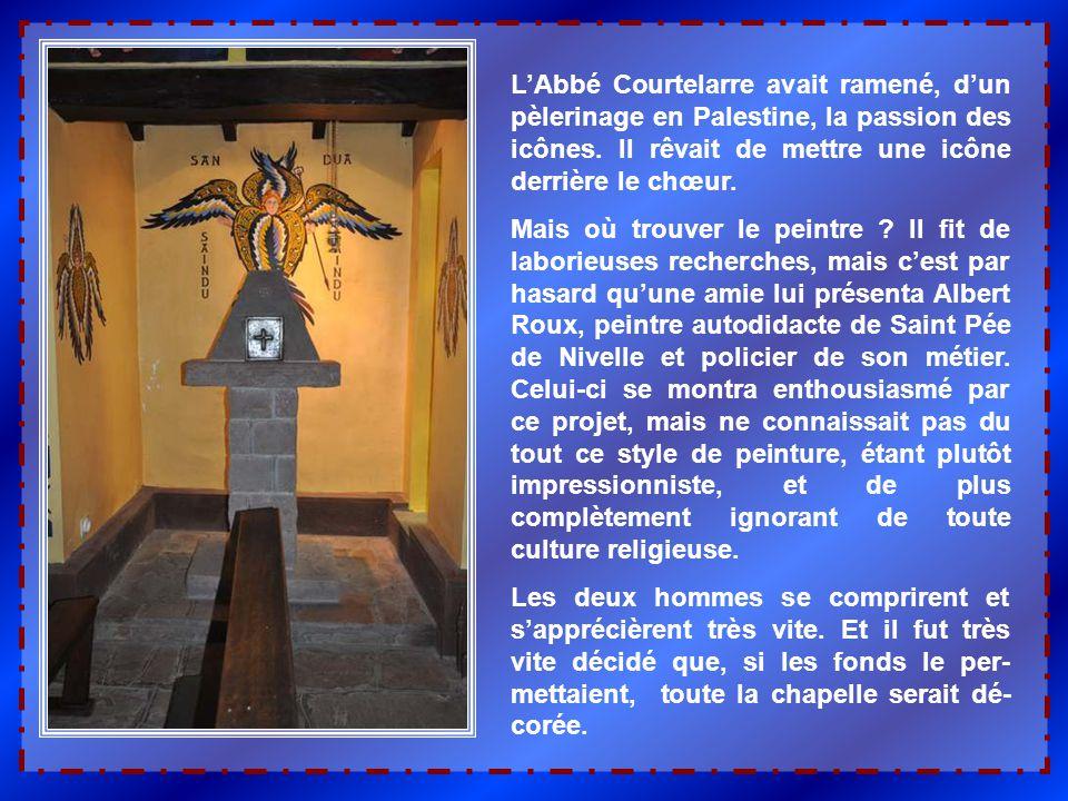 L'Abbé Courtelarre possédait un terrain à proximité, dont il fit don pour la cons- truction. Et les prêtres se transformèrent en manoeuvres, porteurs,