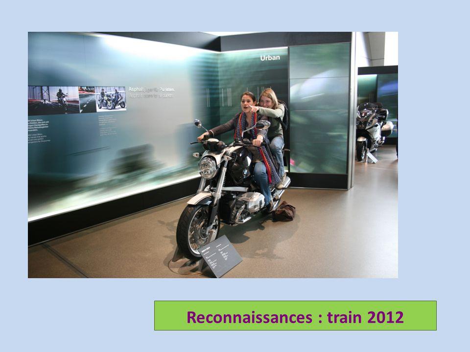 Reconnaissances : train 2012