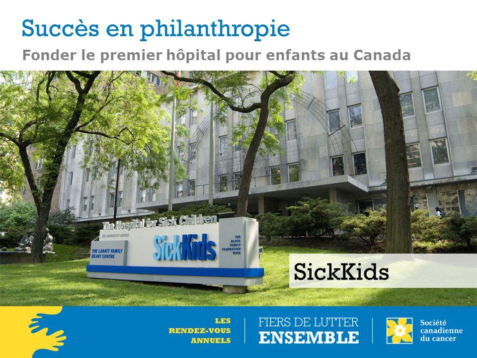 Fonder le premier hôpital pour enfants au Canada SickKids Succès en philanthropie