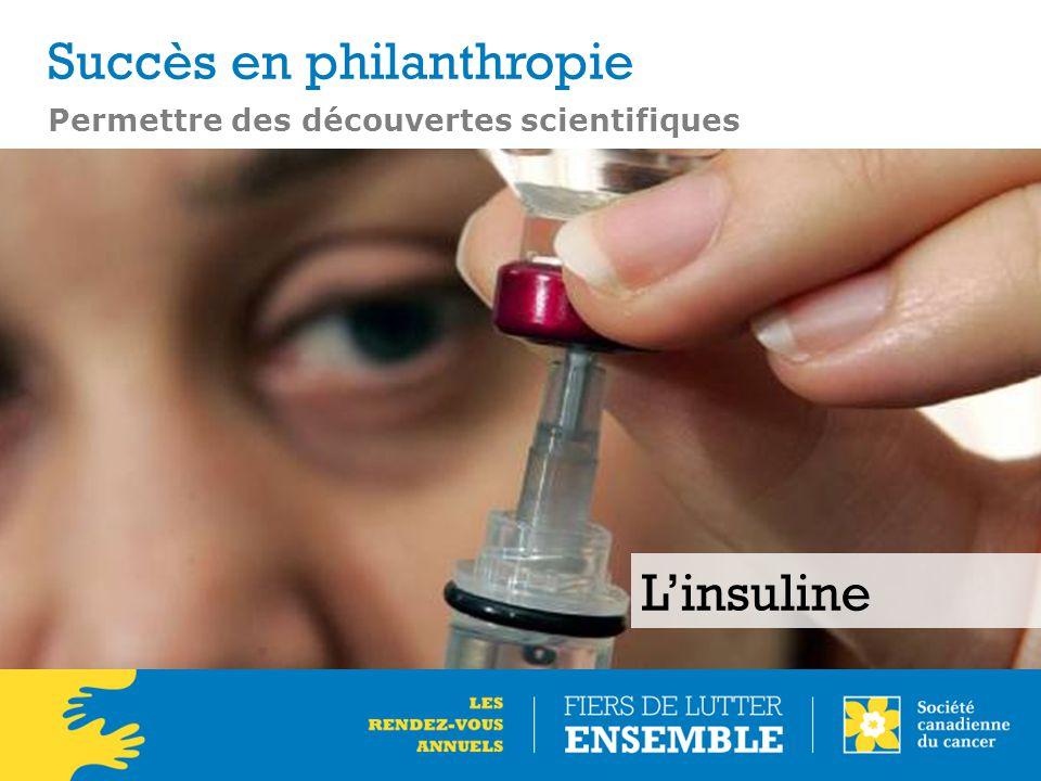 Permettre des découvertes scientifiques L'insuline Succès en philanthropie