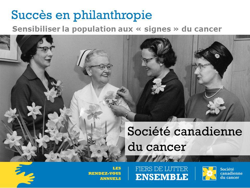 Sensibiliser la population aux « signes » du cancer Société canadienne du cancer Succès en philanthropie