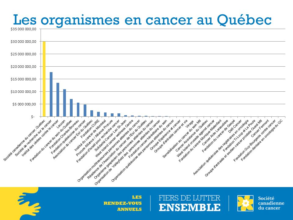 Les organismes en cancer au Québec