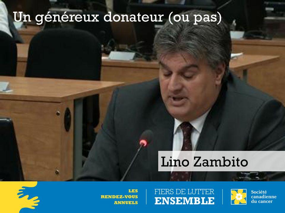 Lino Zambito Un généreux donateur (ou pas)