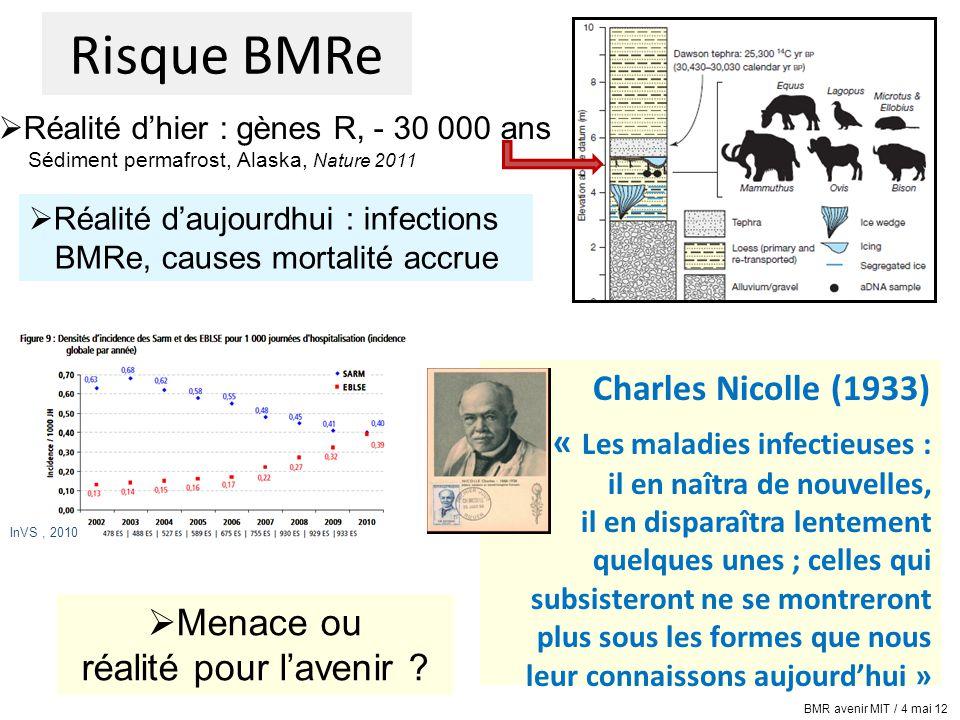AVENIR épidémie BMRe épidémie MIE à BMR .