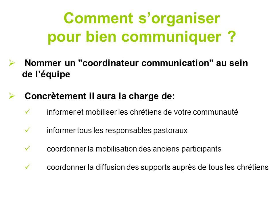 Comment s'organiser pour bien communiquer ?  Nommer un
