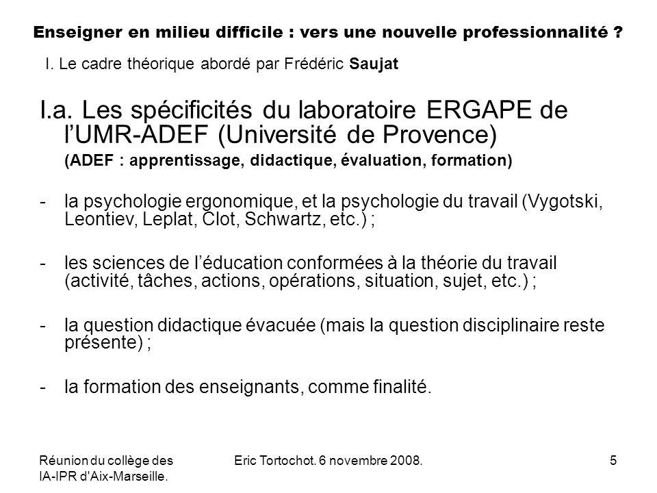 Réunion du collège des IA-IPR d Aix-Marseille. Eric Tortochot.