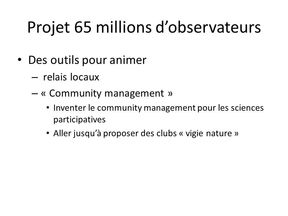 Des outils pour animer – relais locaux – « Community management » Inventer le community management pour les sciences participatives Aller jusqu'à prop