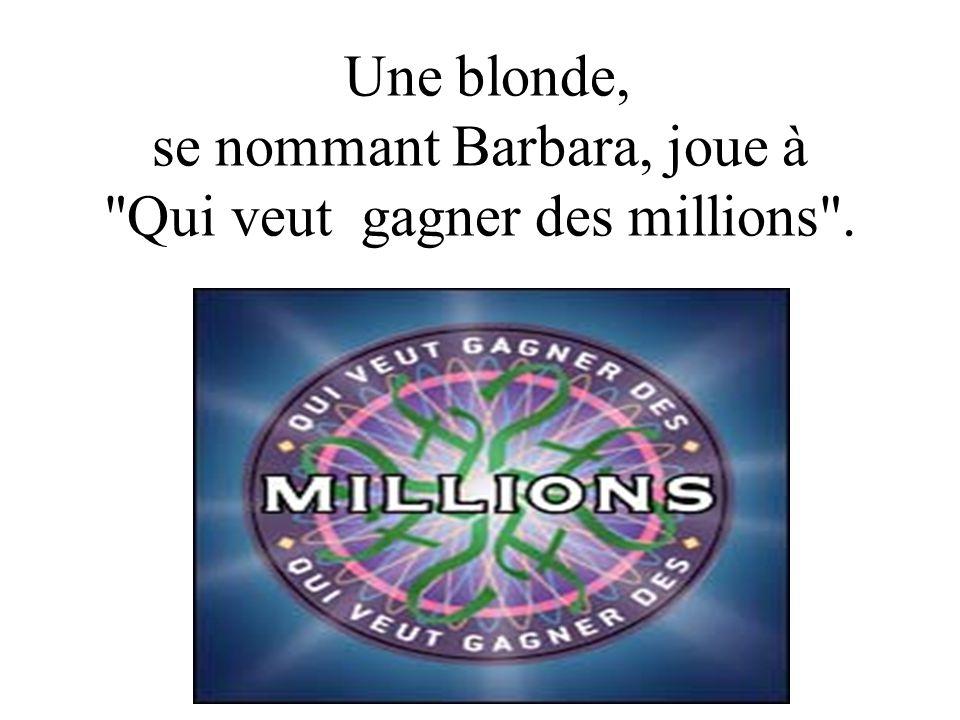 Diaporama PPS réalisé pour http://www.diapora mas-a-la-con.com Une blonde, se nommant Barbara, joue à