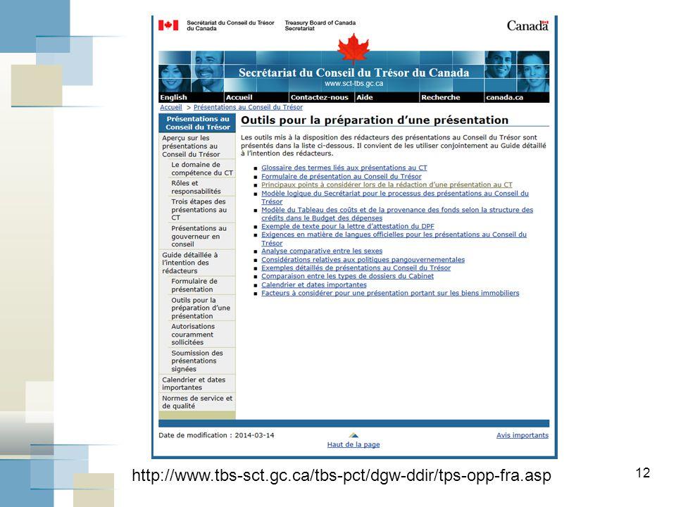 12 http://www.tbs-sct.gc.ca/tbs-pct/dgw-ddir/tps-opp-fra.asp