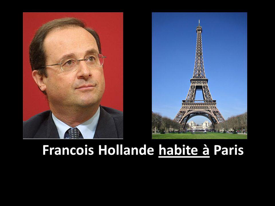 Francois Hollande habite à Paris