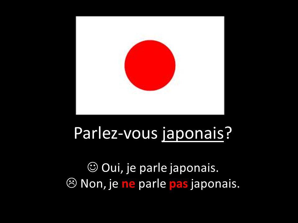 Parlez-vous japonais? Oui, je parle japonais.  Non, je ne parle pas japonais.